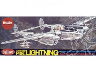 Maquette Guillow&39s avion bois 2001 P-38L LIGHTNING 1/16