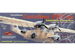 Maquette Guillow&39s avion bois 2004 PBY-5A CATALINA 1/28