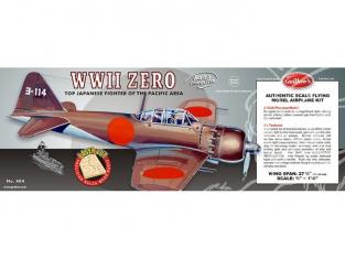 Maquette Guillow&39s avion bois 404 MITSUBISHI ZERO 1/16
