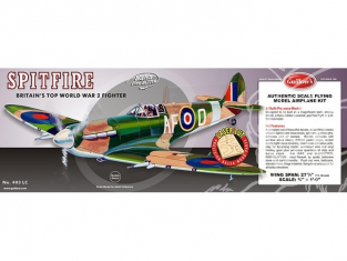 Maquette Guillow&39s avion bois 403 SUPERMARINE SPITFIRE 1/16