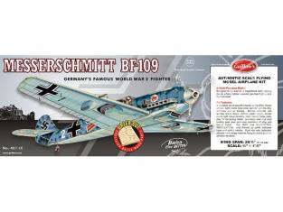 Maquette Guillow&39s avion bois 401 MESSERSCHMITT BF-109 1/16