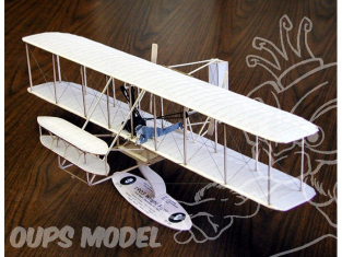 Maquette Guillow&39s avion bois 1202 1903 Wright Flyer 1/20