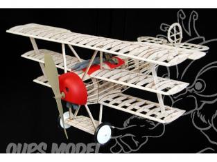 Maquette Guillow&39s avion bois 204 FOKKER DR-1 TRIPLANE 1/14