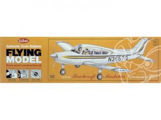 Maquette Guillow&39s avion bois 308 BEECHCRAFT MUSKETEER 1/20