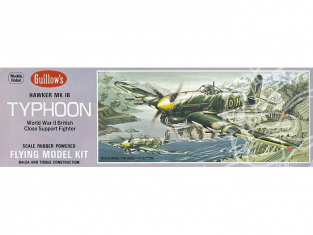 Maquette Guillow's avion bois 906 Hawker Typhoon 1/28