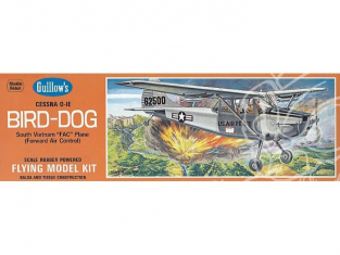 Maquette Guillow&39s avion bois 902 Cessna L-19 Bird-Dog 1/24