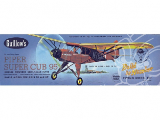 Maquette Guillow&39s avion bois 602 PIPER SUPER CUB 95