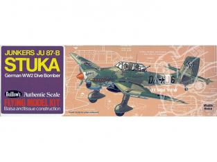 Maquette Guillow&39s avion bois 508 Junkers Ju 87-B Stuka 1/38