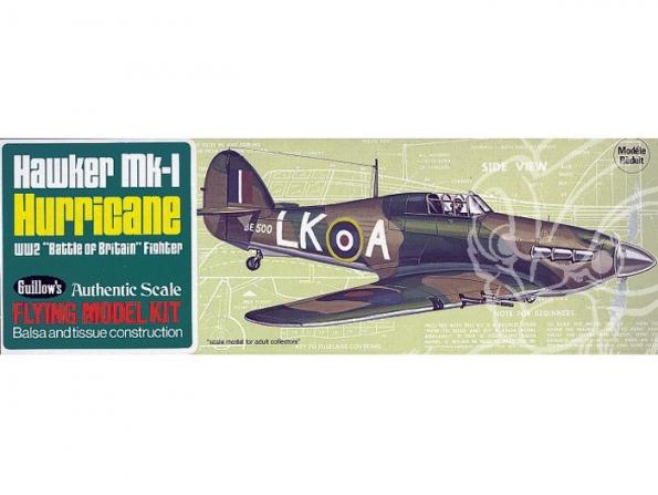Maquette Guillow&39s avion bois 506 Hawker Hurricane MK-I 1/32