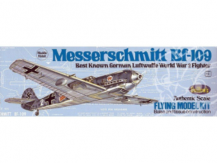 Maquette Guillow&39s avion bois 505 Messerschmitt Bf 109 1/32