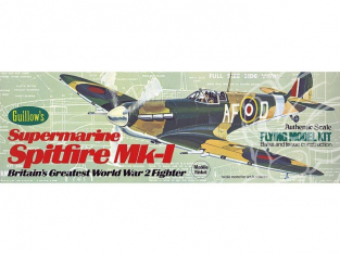 Maquette Guillow&39s avion bois 504 Supermarine Spitfire 1/32