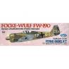 Maquette Guillow&39s avion bois 502 Focke-Wulf Fw 190 1/32
