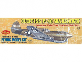 Maquette Guillow&39s avion bois 501 Curtiss P-40 Warhawk 1/32