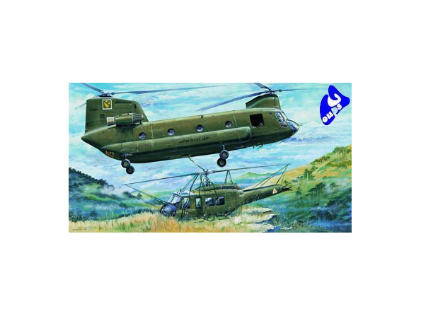 """Trumpeter maquette avion 05104 HELICOPTERE US CH-47A """"CHINOOK"""" 1"""