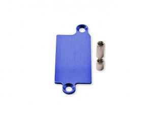 plaque de protection aluminium anodise bleu pour recepteur radion REVO HCR-05041