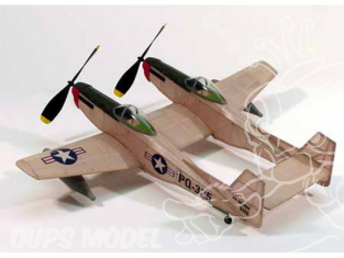 Maquette DUMAS AIRCRAFT 206 avion bois F-82 Twin Mustang