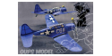 Maquette DUMAS AIRCRAFT 228 avion bois Douglas SBD Dauntless