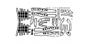 EDUARD photodecoupe avion 48127 Undercarriage A-20 Amt / Ertl 1/48