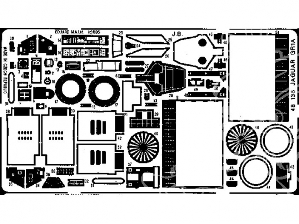 EDUARD photodecoupe avion 48136 Jaguar GR Mk.1A 1/48