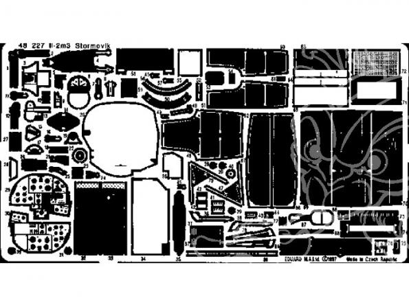 EDUARD photodecoupe avion 48227 IL-2m3 Stormovik 1/48