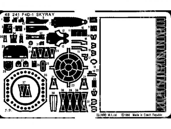 EDUARD photodecoupe avion 48241 F4D-1 Skyray 1/48