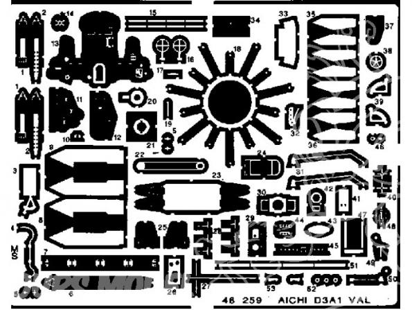 EDUARD photodecoupe avion 48259 D3A1 Val 1/48