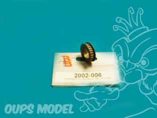 poulie avant ALU anodise dur 24D (impluse) RB2002-006