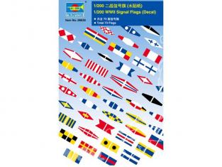 TRUMPETER photodecoupe 06630 SET DE DRAPEAUX code international des signaux maritimes pour navire 1/200