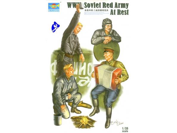 Trumpeter maquette militaire 00413 SOLDATS SOVIETIQUES AU REPOS