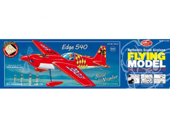 Maquette Guillow&39s avion bois 703 Zivko Edge 540 1/14
