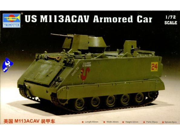 trumpeter maquette militaire 07237 US M 113ACAV 1/72