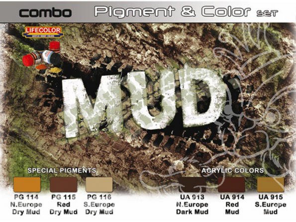 LIFECOLOR peinture spg05 Teintes et Pigments Boue