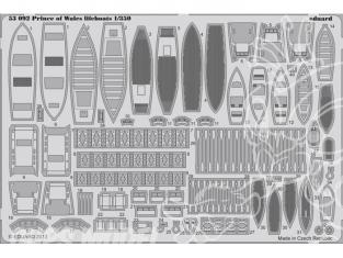 Eduard photodecoupe bateau 53092 Canots de sauvetage Prince of Wales Tamiya 1/350