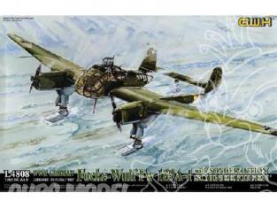 Great Wal Hobby maquette avion L4808 FOCKE WULF FW-189 A1 avec skis 1942 1.48