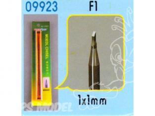 Trumpeter outillage bateau bois 09923 CISEAUX A BOIS POUR MODELISME - F1 (1X1mm)