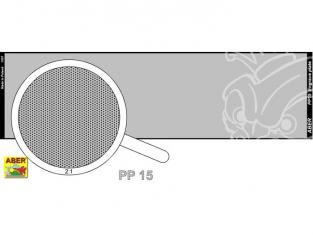 Aber PP15 plaque gravée (140 x 39mm) - pattern 15