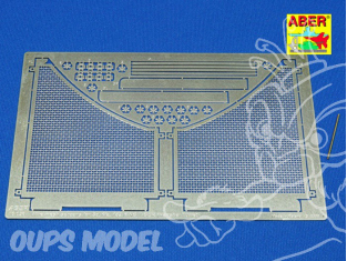 Aber 16036 Grilles anti mines pour Tigre II tamiya et Trumpeter 1/16