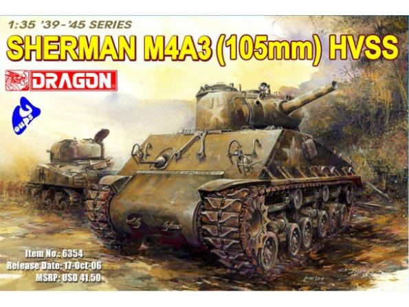 Dragon maquette militaire 6354 M4A3 105mm HVSS 1/35