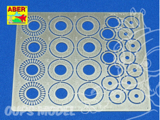 Aber 24022 Set disques de frein ventilés percé 13mm pour Tamiya Aoshima et Fujimi 1/24