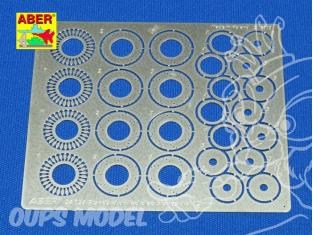 Aber 24024 Set disques de frein ventilés percé 12mm pour Tamiya Aoshima et Fujimi 1/24