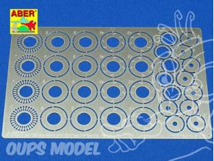 Aber 24025 Set disques de frein ventilés fendu 12mm pour Tamiya Aoshima et Fujimi 1/24