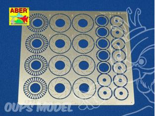 Aber 24019 Set disques de frein ventilés percé 14mm pour Tamiya Aoshima et Fujimi 1/24