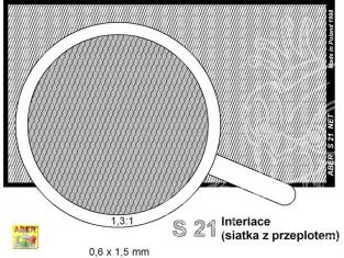 Aber S21 Filet mailles entrelacées 0,6x1,5mm (80x45)