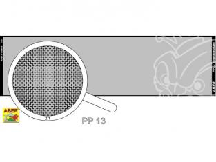 Aber PP13 plaque gravée (140 x 39mm) motif 13