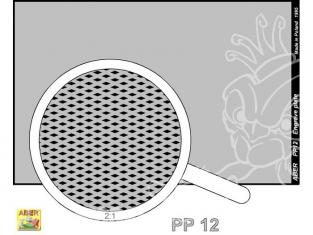 Aber PP12 plaque gravée (88 x 57mm) motif 12