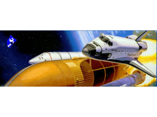 Revell maquette espace 4736 discovery + booster 1/144
