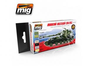 MIG set peinture maquette 7109 set de camouflage Russe couleurs modernes