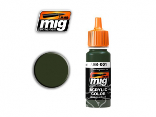 MIG peinture authentique 001 RAL6003 OLIVGRUN OPT.1 (AK-752)
