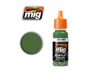 MIG peinture authentique 003 RAL6011 RESEDAGRUN (AK-715)