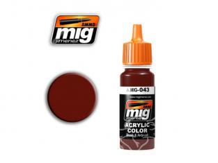 MIG peinture authentique 043 Rouille sombre (AK-710)